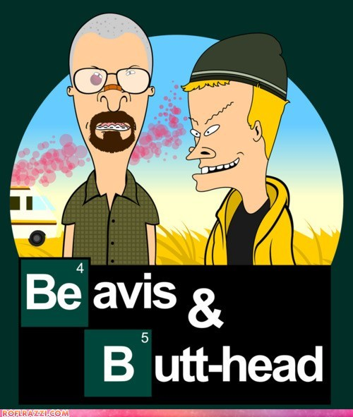 art beavis and butthead breaking bad Hall of Fame illustrations mashup - 5568569088