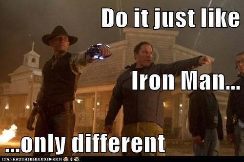 cowboys and aliens,creativity,Daniel Craig,iron man,jon favreau
