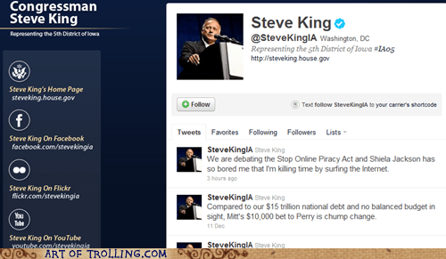 Congress SOPA steve king wtf - 5568708352