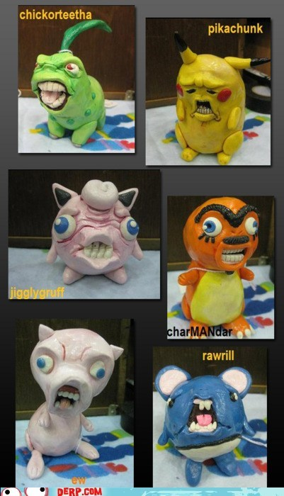 best of week,charmander,creepy,derp,pikachu,Pokémon,wtf