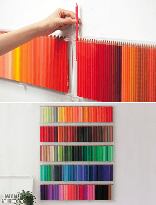 colored pencils decoration design pretty colors wall - 5569042688
