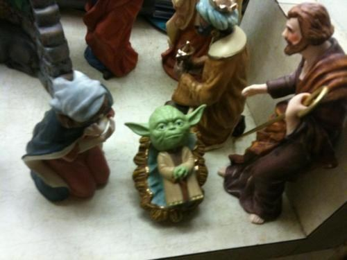 baby jesus,Nativity,nerdgasm,religion,star wars,yoda