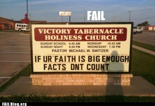 church signs common sense Hall of Fame religion - 5569134336
