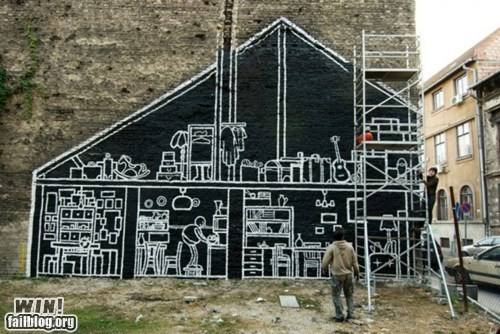 art cross section cutout graffiti hacked irl Street Art x ray