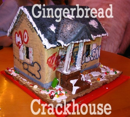 candy crack crackhouse dessert drugs food gingerbread house nom nom nom sketchy santas - 5569227264