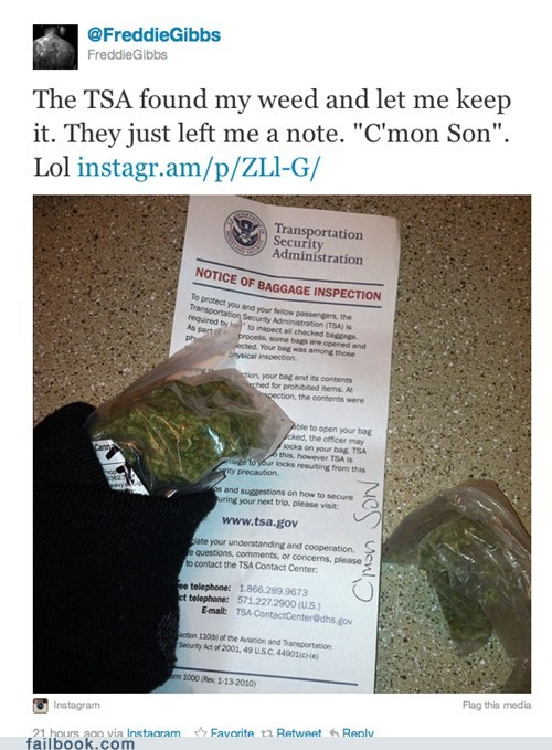 drugs image really-luggage TSA twitter win - 5569347328