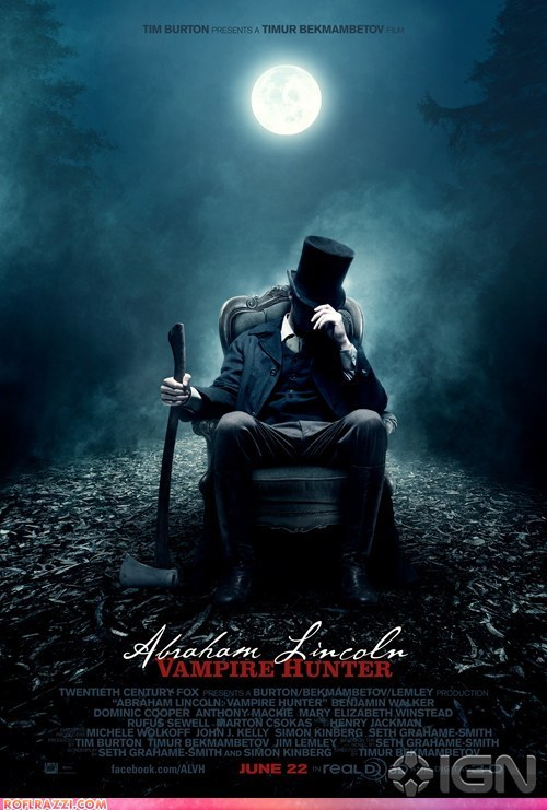 Abraham Lincoln Vampire Hunter,Hall of Fame,movie posters,posters,tim burton,vampires