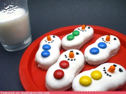 cookies epicute nutter butter peanut butter snowmen - 5569509888
