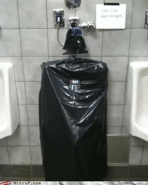 bathroom humor darth vader out of order star wars toilets urinal - 5569603840