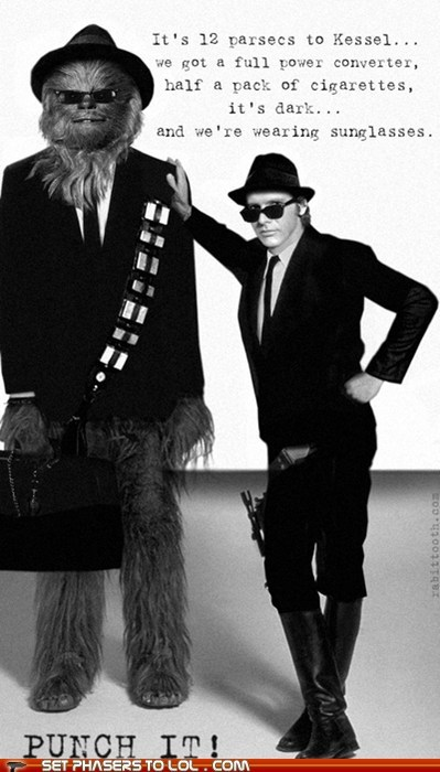 blues brothers,chewbacca,Han Solo,Harrison Ford,star wars