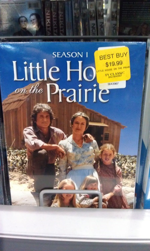 DVD,little house on the prairie,price tag,shows,sticker placement,television