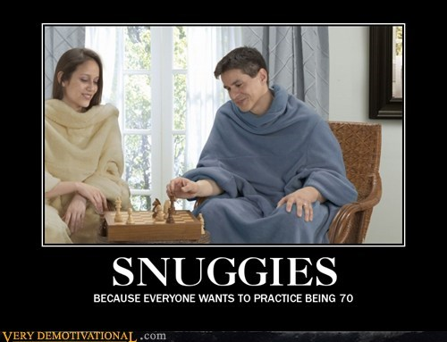 idiots old age Snuggies wtf