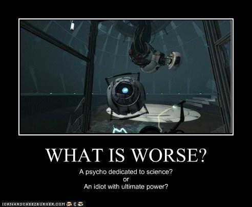 gladOS idiot power psycho science video games Wheatley worse - 5570145024