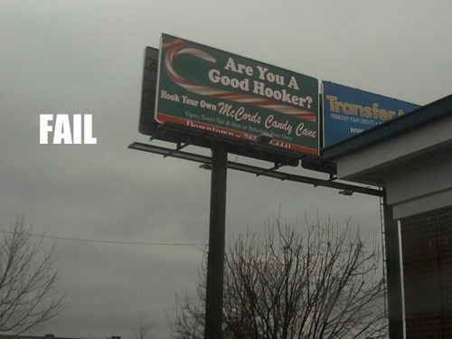 billboard,christmas,FAIL Gifts For Your Friends on The Naughty List,fail nation,innuendo,phrasing,signs