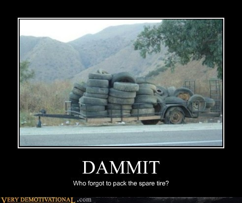 hilarious spare tire trailers wtf - 5570540288