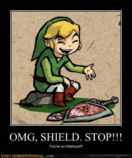 hilarious,link,shield