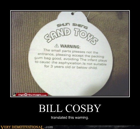 bill cosby,hilarious,sand,translated,warning