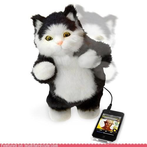 cat dance ipod robot speaker toy - 5570882048