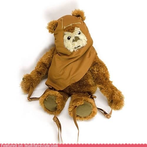 backpack,ewok,furry,Plush,star wars,wicket