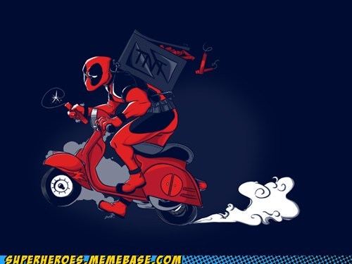 Awesome Art deadpool scooter tnt - 5570888192