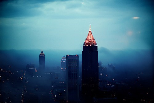 Atlanta city cityscape clouds fog Georgia getaways north america united states - 5570932224