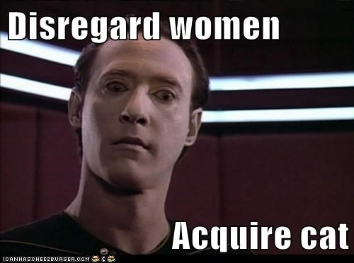 acquire,brent spiner,cat,data,disregard,spot,Star Trek
