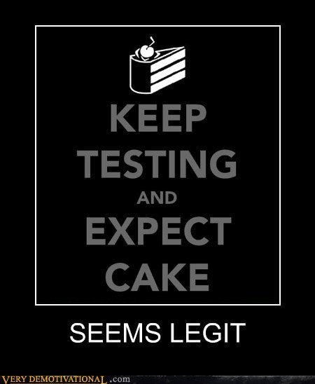 aperture science cake hilarious seems legit