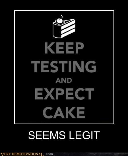 aperture science cake hilarious seems legit - 5571146240