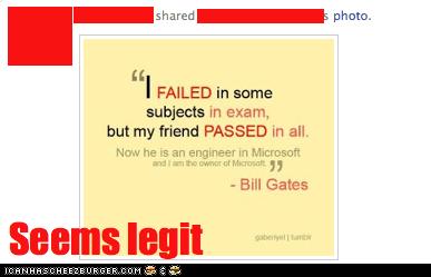 Bill Gates talks as this