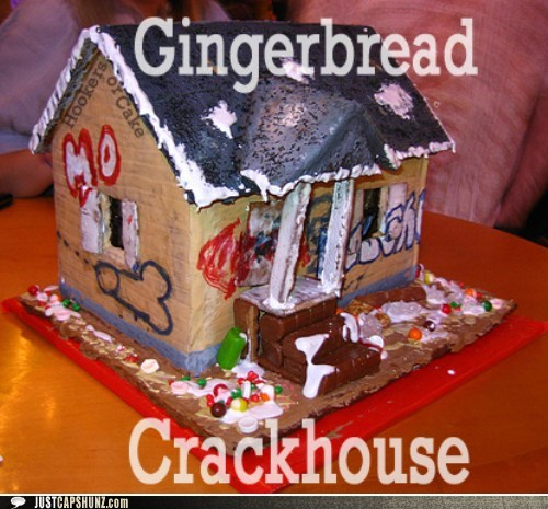 classic crackhouse gingerbread gingerbread house holiday tradition - 5572424960