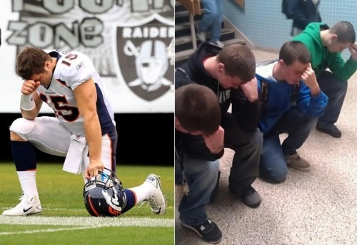 kids these days Riverhead High School tebowing - 5572449024