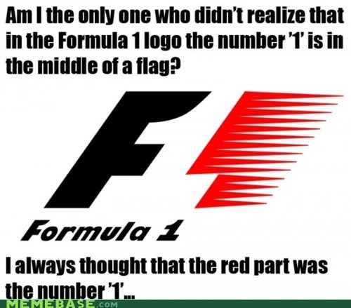cannot unsee formula 1 logo