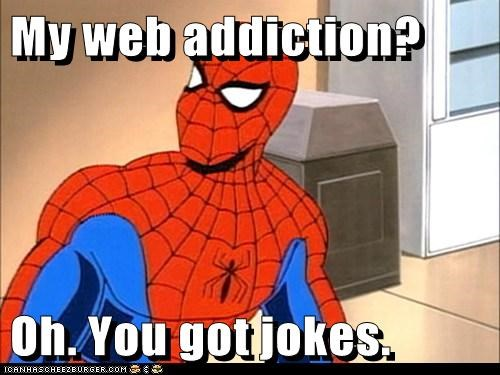 bad joke,pun,Spider-Man,Super-Lols
