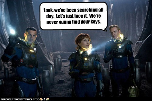 Aliens couch Elizabeth Shaw keys michael fassbender Movie Noomi Rapace prometheus searching - 5572848640