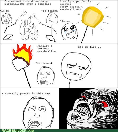 burnt marshmallows Rage Comics toasty