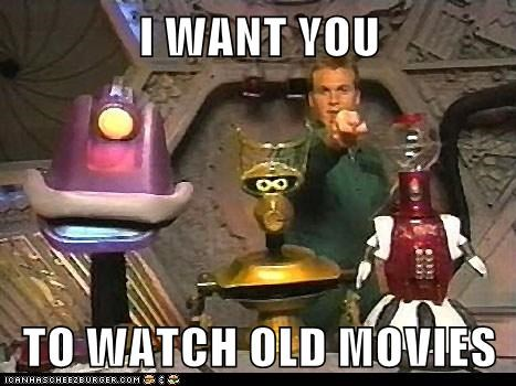 crow,gypsy,i want you,mike nelson,mst3k,Mystery Science Theatre,old movies,tom servo