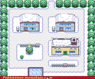 awesome gameplay ill-be-home-for-christma pallet town seasons snow winter - 5573347328