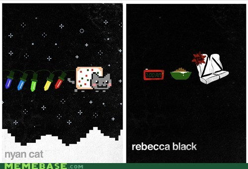 christmas holidays know your meme nope Nyan Cat Rebecca Black - 5573429248