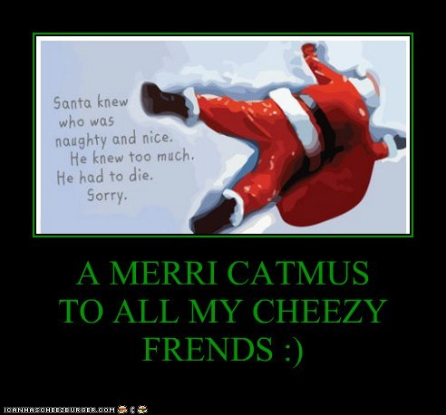 A MERRI CATMUS TO ALL MY CHEEZY FRENDS :)