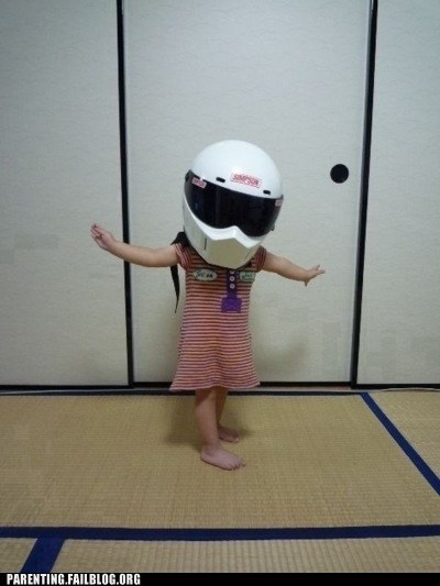bike helmet Hall of Fame helmet Parenting Fail safety the stig top gear