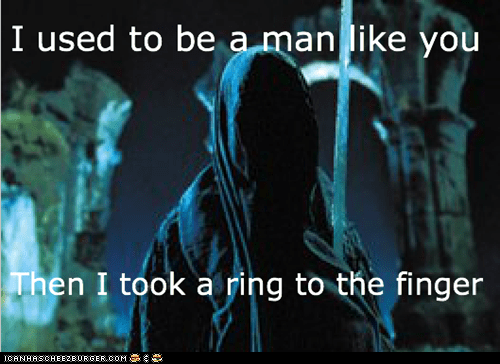arrow to the knee finger Lord of the Rings nasgul ring ringwraith