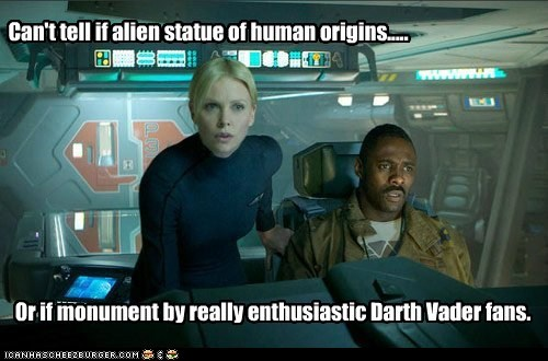 Aliens charlize theron darth vader Idris Elba Movie prometheus - 5573752320