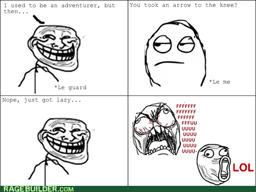 adventurer,lazy,Rage Comics,troll