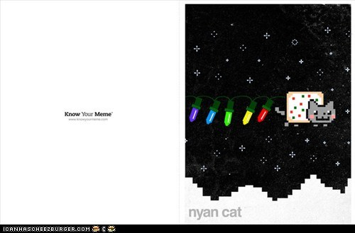 christmas,christmas cards,holidays,know your meme,memecats,Memes,Nyan Cat