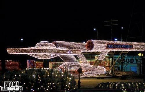 christmas lights decorations Hall of Fame nerdgasm sci fi Star Trek