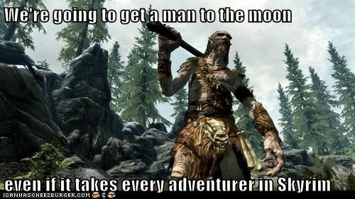 adventurer bug fly giant moon Skyrim the elder scrolls