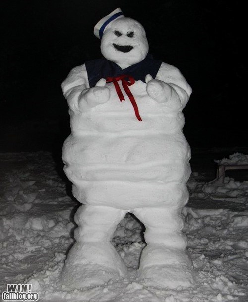 Ghostbusters,nerdagasm,snow man,stay puft marshmallow man