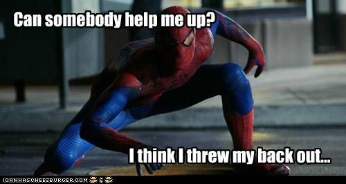 back help pain peter parker Spider-Man - 5574965504