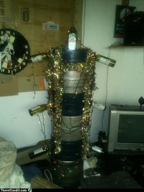 alcohol christmas christmas tree DIY keg - 5575354624