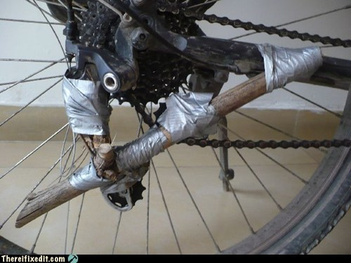 bad puns,bike,duct tape,gear